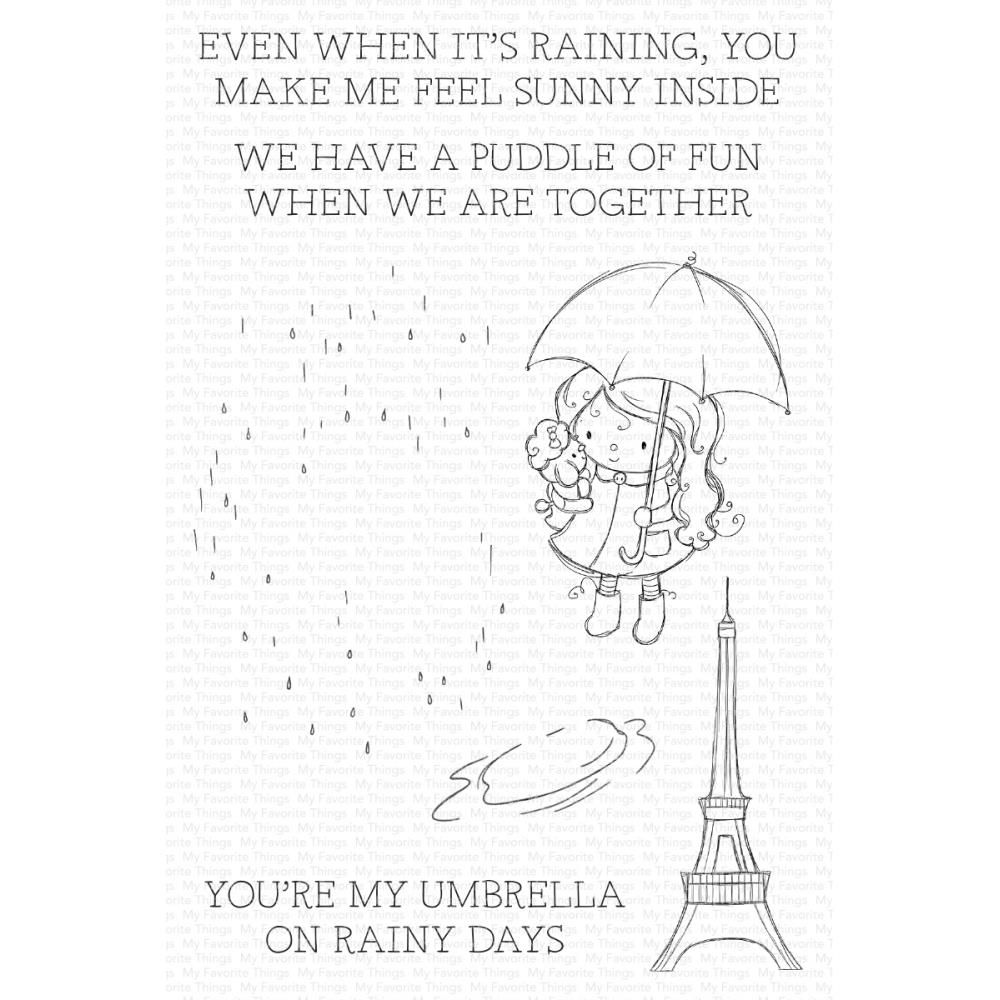 ***PRE-ORDER*** My Favorite Things - Rainy Day Friends Clear Stamps