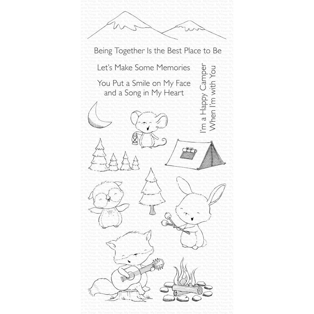 ***PRE-ORDER*** My Favorite Things - Happy Campers Clear Stamps