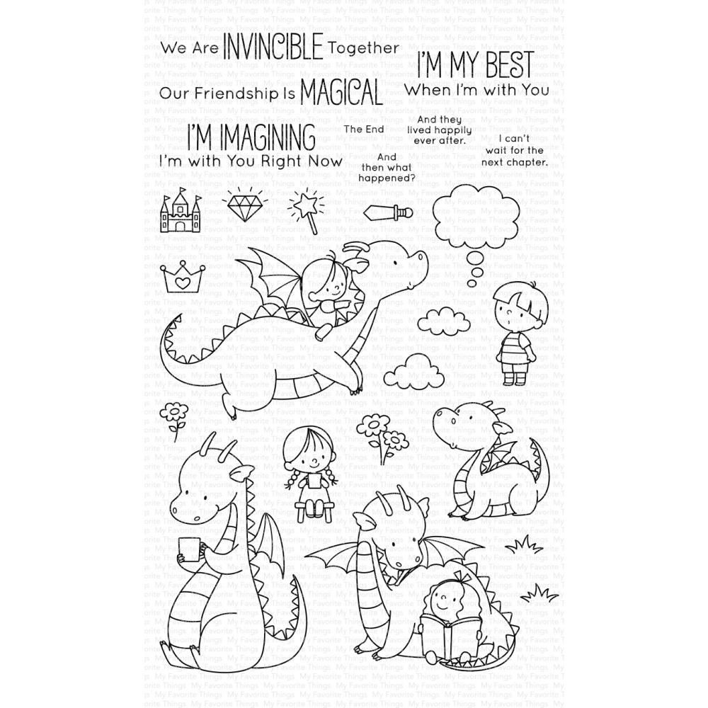 ***PRE-ORDER*** My Favorite Things - Magical Friends Clear Stamps
