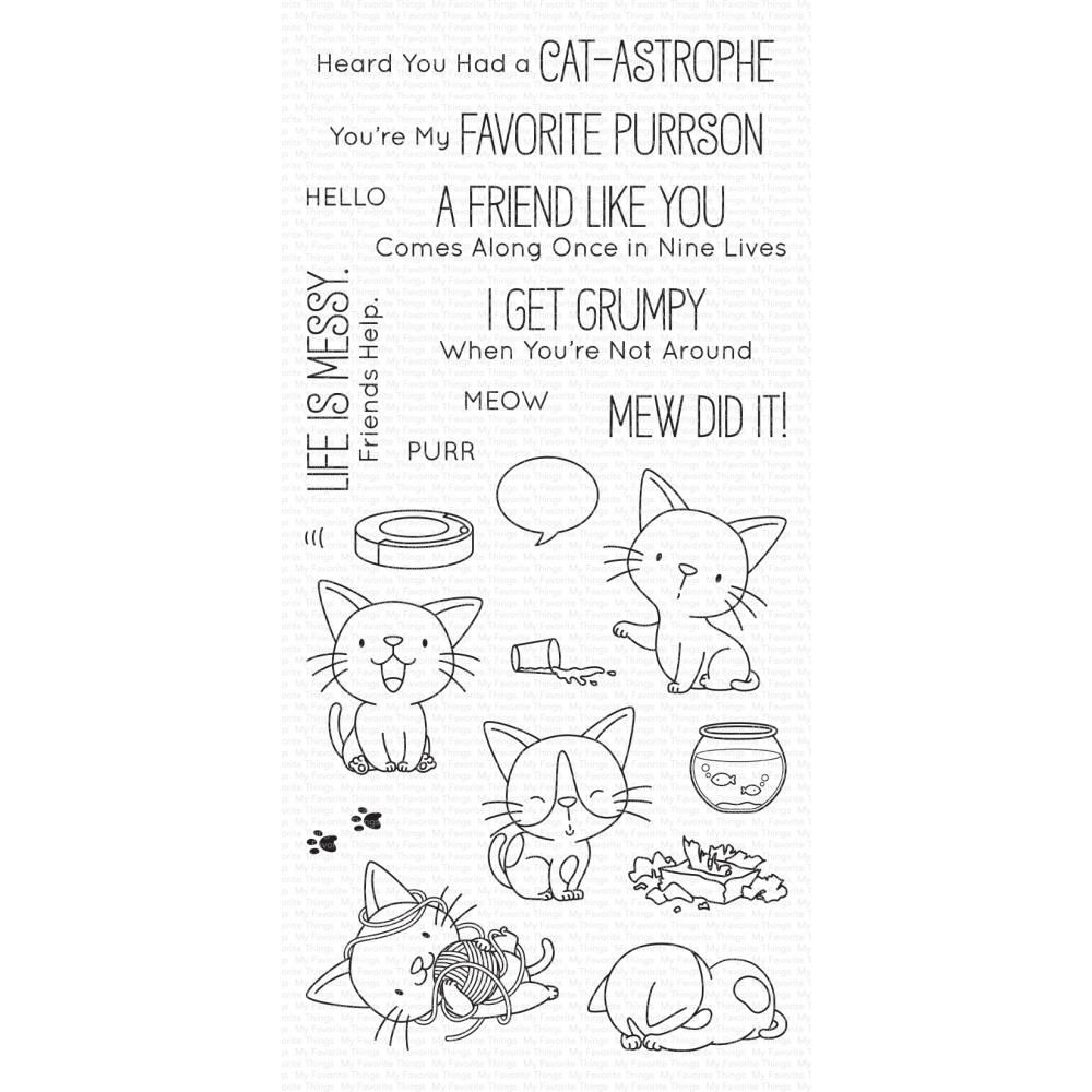 ***PRE-ORDER*** My Favorite Things - Cat-astrophe Clear Stamps