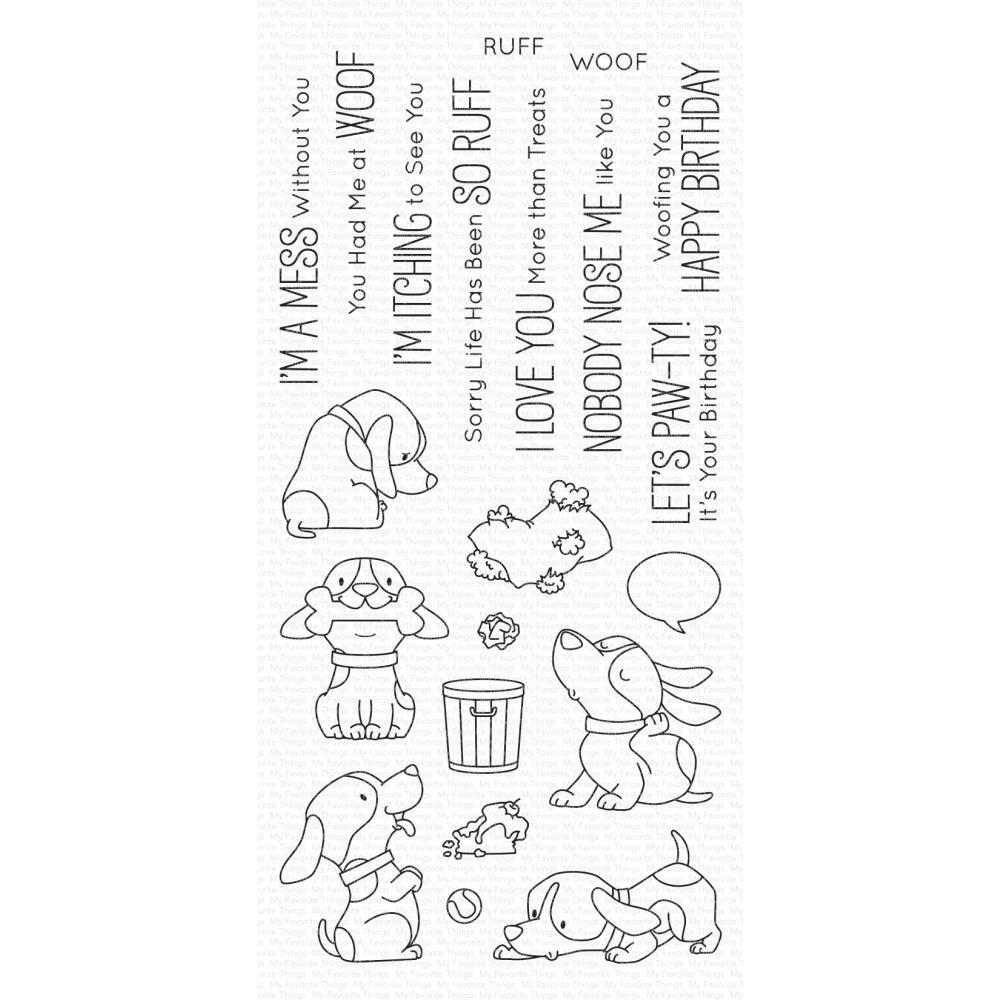 ***PRE-ORDER*** My Favorite Things - Woof Pack Clear Stamps