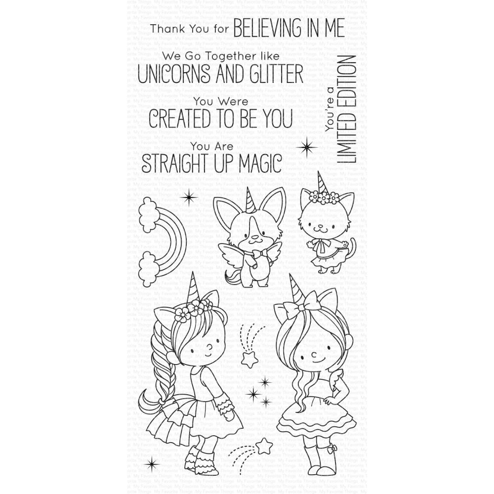 ***PRE-ORDER*** My Favorite Things - Unicorns and Glitter Clear Stamps