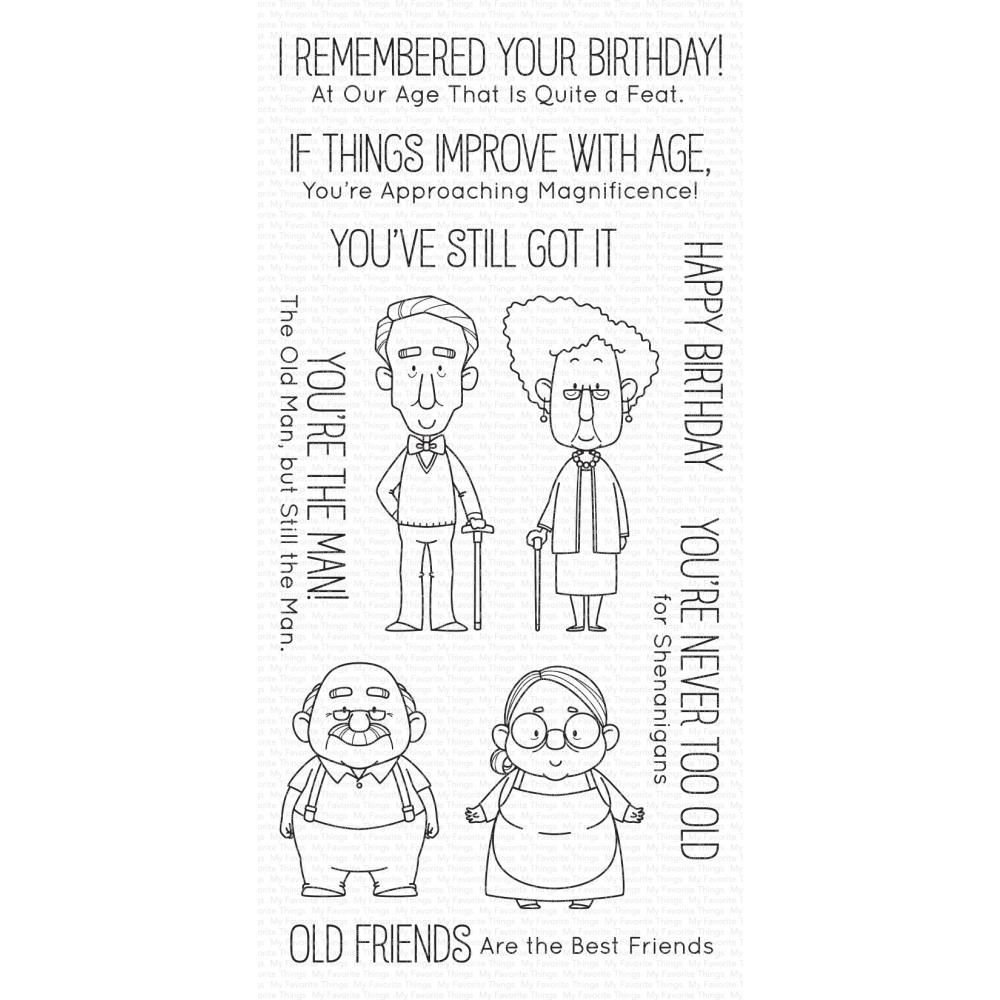 ***PRE-ORDER*** My Favorite Things - Old Friends Clear Stamps