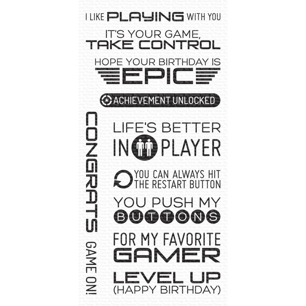***PRE-ORDER*** My Favorite Things - Level Up Clear Stamps