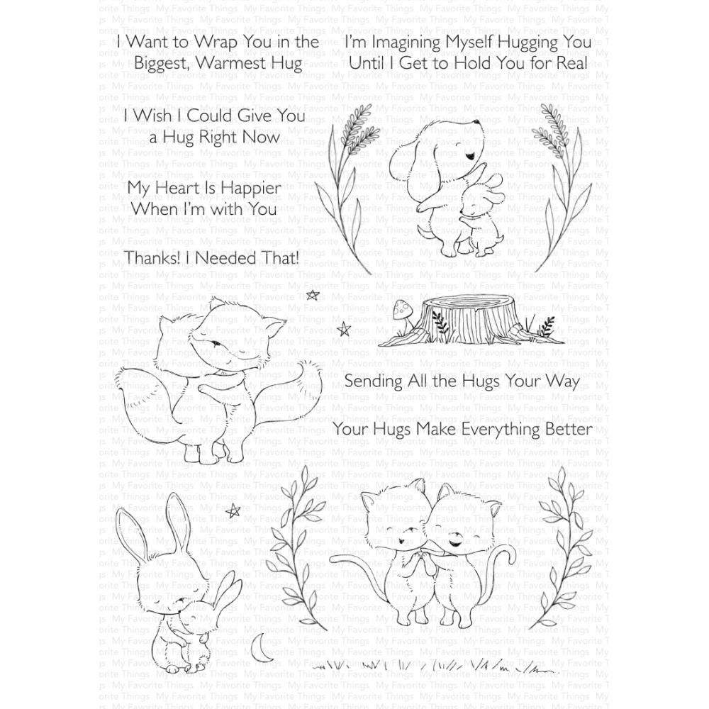 ***PRE-ORDER*** My Favorite Things - Hugs Make Everything Better Clear Stam