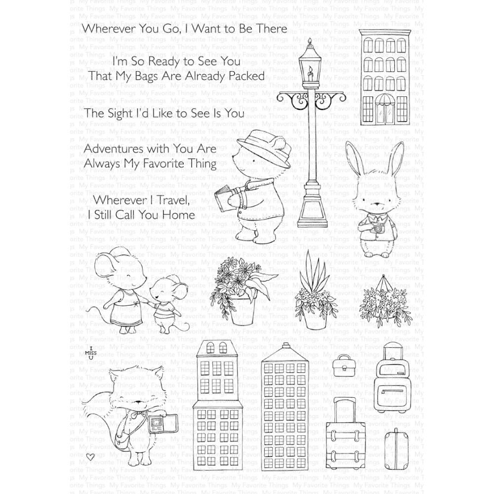 ***PRE-ORDER*** My Favorite Things - Travel Plans Clear Stamps