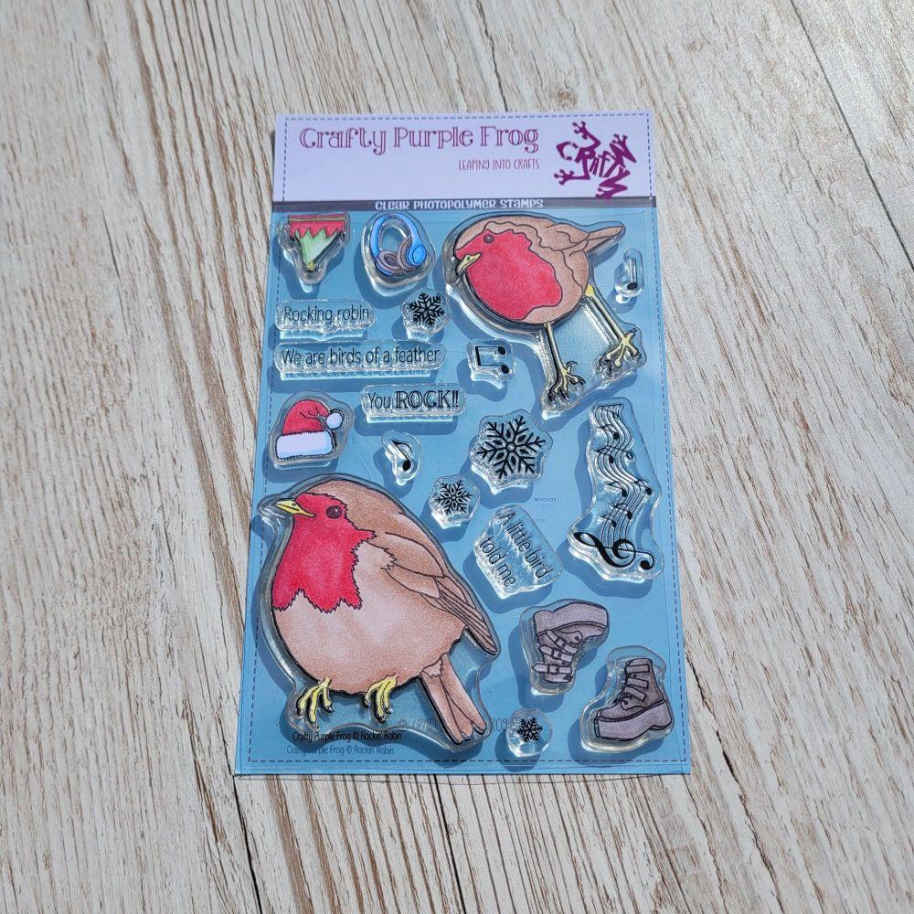 ****NEW**** Rockin' Robin Stamp Set - Crafty Purple Frog