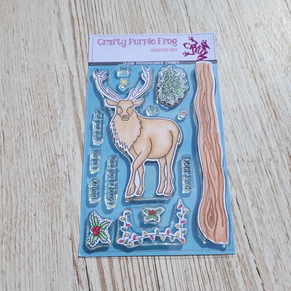 ****NEW**** Deer Friend Stamp Set - Crafty Purple Frog
