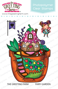 Fairy Garden clear stamp set - The Greeting Farm