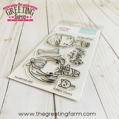**NEW** Furreal couple clear stamp set - The Greeting Farm