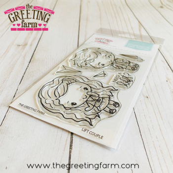 **NEW** Lift couple clear stamp set - The Greeting Farm