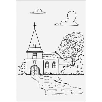 ***NEW*** Crafter's Companion Lee Holland Photopolymer Stamp - Village Church
