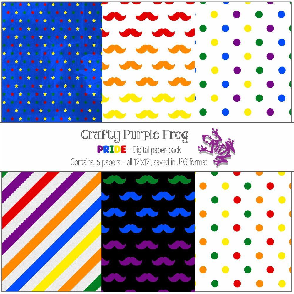 PRIDE - Digital paper set - Crafty Purple Frog