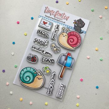 ****NEW**** Time For Tea - You Got Mail clear stamp set