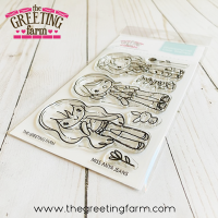Miss Anya Jeans clear stamp set - The Greeting Farm