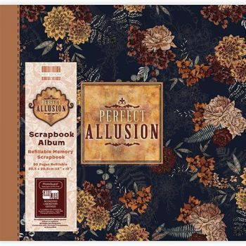 First Editions Perfect Allusion floral 12x12 scrapbook Album