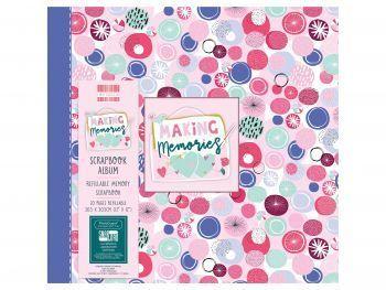 First Editions Making Memories Spots 12x12 scrapbook Album