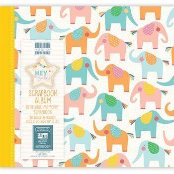 First Editions Hey Baby - Elephants 8x8 scrapbook Album