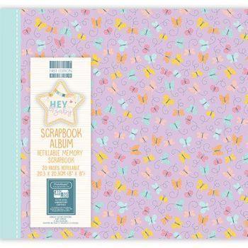 First Editions Hey Baby - Butterflies 8x8 scrapbook Album