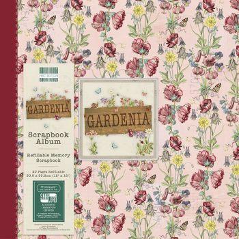 First Editions Gardenia Flowers 12x12 scrapbook Album