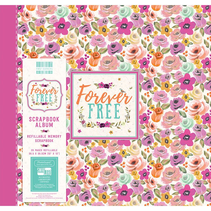 First Editions Forever Free Blooms 12x12 scrapbook Album
