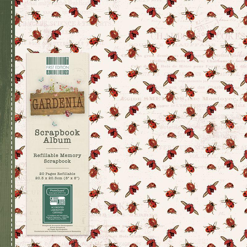 First Editions Gardenia 8x8 scrapbook Album