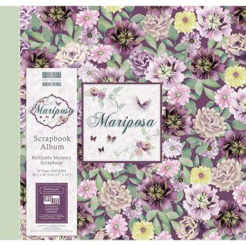 First Editions Mariposa flowers 12x12 scrapbook Album