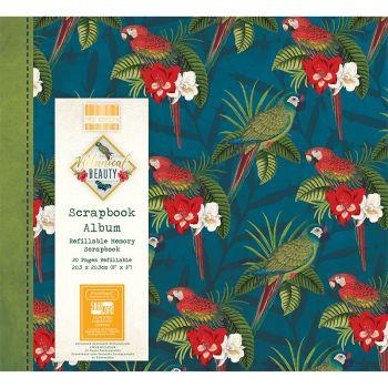 First Editions Botanical Beauty Parrots 8x8 scrapbook Album