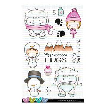 C.C. Designs - Cutie Yeti Clear Stamp Set