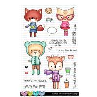 C.C. Designs - Coffee & Cookie Clear Stamp Set