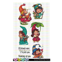 ***NEW*** C.C. Designs - Gnome Friends Clear Stamps