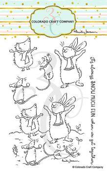 Colorado Craft Company ~ Anita Jeram ~ Get Together clear stamp set