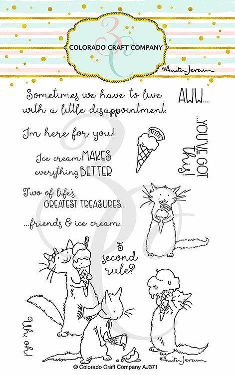 Colorado Craft Company ~ Anita Jeram ~ Ice Cream Day clear stamp set
