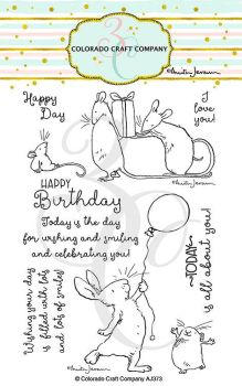 Colorado Craft Company ~ Anita Jeram ~ Birthday Wishing clear stamp set