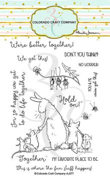 Colorado Craft Company ~ Anita Jeram ~ Better Together clear stamp set