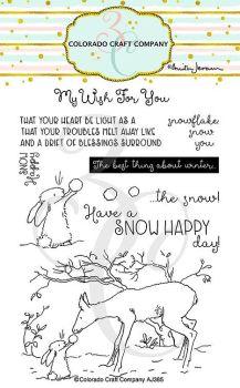 Colorado Craft Company ~ Anita Jeram ~ Snow Happy clear stamp set
