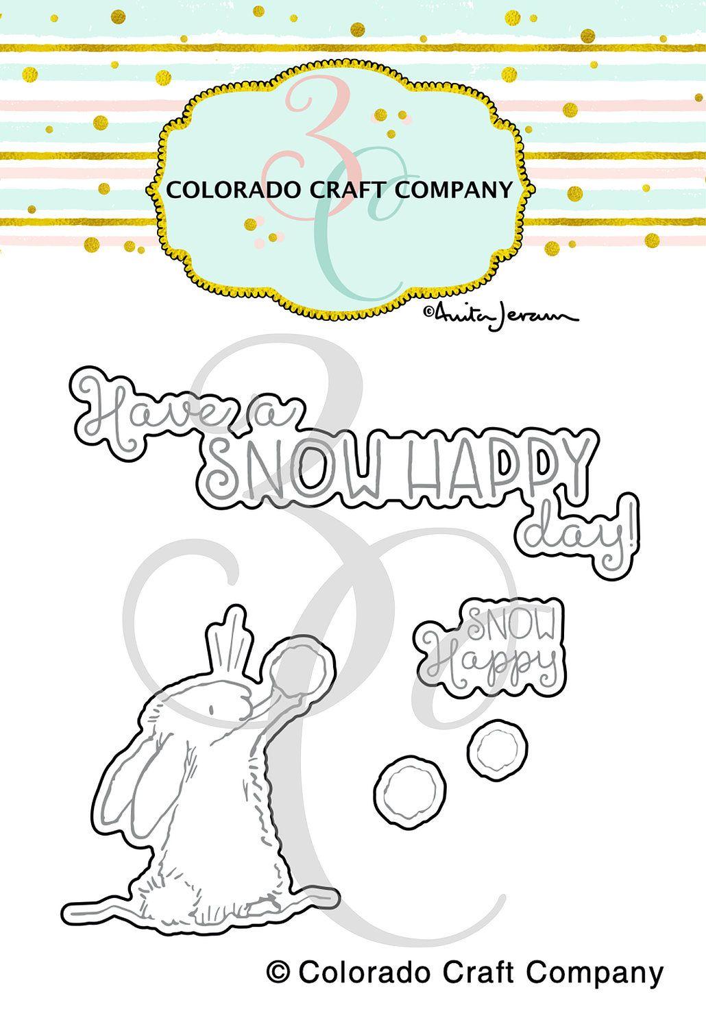 Colorado Craft Company ~ Anita Jeram ~ Snow Happy Dies