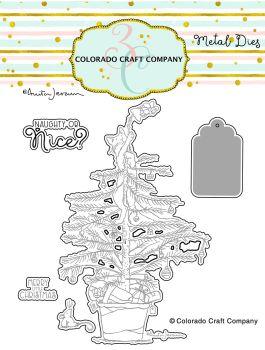 Colorado Craft Company ~ Anita Jeram ~ Christmas Tree Cat Dies