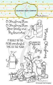 Colorado Craft Company ~ Anita Jeram ~ Wonderful Time clear stamp set