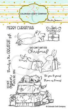 Colorado Craft Company ~ Anita Jeram ~ Christmas Presents clear stamp set