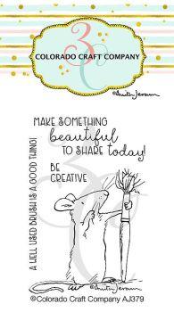 Colorado Craft Company ~ Anita Jeram ~ Be Creative clear stamp set
