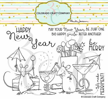 Colorado Craft Company ~ Anita Jeram ~ Party Time clear stamp set