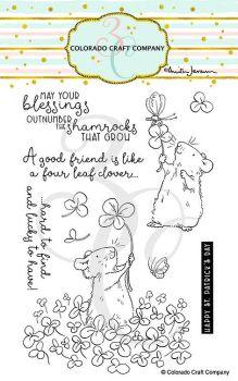 Colorado Craft Company ~ Anita Jeram ~ 4 Leaf Clover clear stamp set