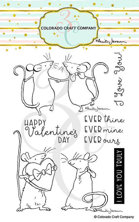 Colorado Craft Company ~ Anita Jeram ~ Ever Thine clear stamp set