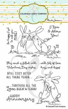 Colorado Craft Company ~ Anita Jeram ~ Lots Of Love clear stamp set