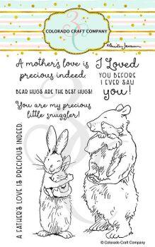 Colorado Craft Company ~ Anita Jeram ~ Snuggles clear stamp set