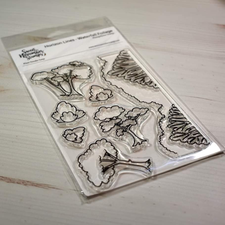 ****NEW****Sweet November - Horizon Lines - Waterfall Foilage Clear stamp s