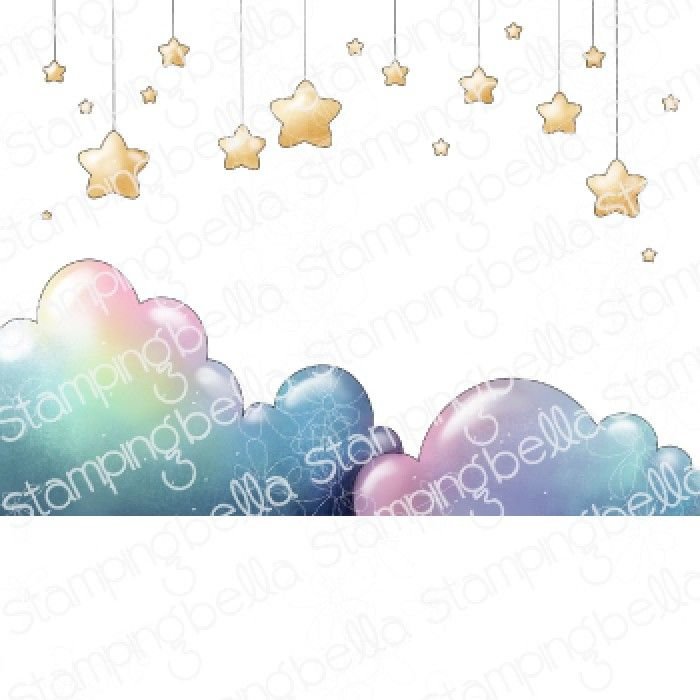 ****PRE-ORDER**** Stamping Bella - Bundle girl STARS AND CLOUDS BACKDROP