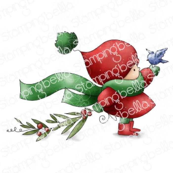 ****PRE-ORDER**** Stamping Bella - BUNDLE GIRL WITH A WINTER BRANCH