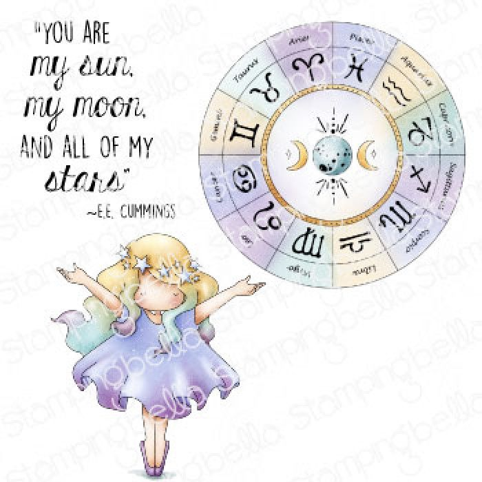 ****PRE-ORDER**** Stamping Bella - TINY TOWNIE ASTROLOGY CHART